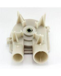 WHIRLPOOL WASHING MACHINE DRAIN PUMP ASSEMBLY - 1 LARGE,1 SMALL PORTS